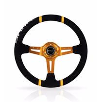 Volante Esportivo Tuning Drift Shutt Ds1 Preto Com Amarelo