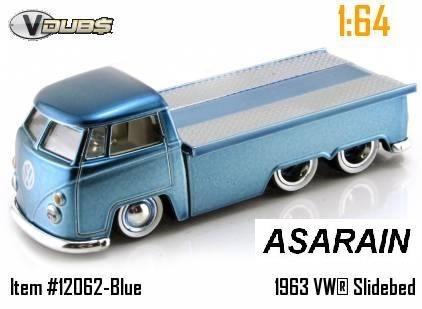 Vw - Kombi Truck Azul - Jada - 1/64