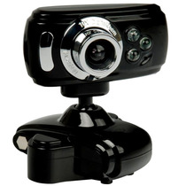 Webcam 16mp 16000k C/ Led + Microfone Alta Definição Usb Msn