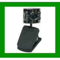 Webcam 12mp 6 Led Visão Noturna Microfone Usb