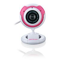 Webcam Com Microfone 16mp Cor Rosa Vision - Multilaser Wc042