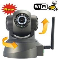 Câmera Ip Dvr Sem Fio Wifi Alarme Gravador Rj45 Cartao Mem