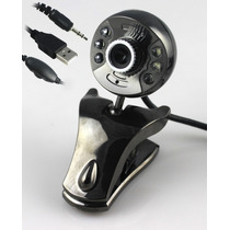 Webcam 32m Pixels Com 6leds Microfone Visão Noturna