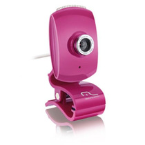 Webcam Plug Play Pink Piano 16mp Microfone Wc048 Multilaser