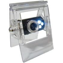 Webcam 10mp Com Microfone Clip Led Visão Noturna Skype Etc