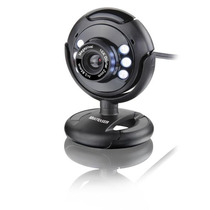 Webcam Plug E Play 16mp Nightvision Mic Usb Preto - Wc045