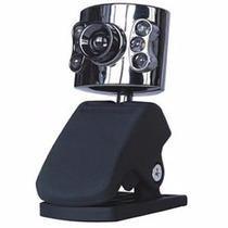 Webcam 2.0mp Usb Com Microfone Led Noturno Pctop Cm-1001