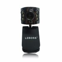 Webcam 16mp Com Visão Noturna Led + Microfone Emb. + Zoom