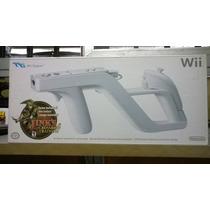 Pistola Wii Zapper Nova Original Na Caixa Com O Jogo Link