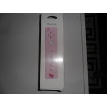 Wii Remote Rosa+capa Silicone+abraçadeira Nintendo Wii.