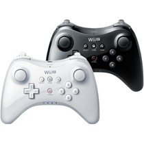 Controle Nintendo Wii U Pro Preto E Branco Original