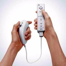 Controle Nintendo Wii Remote + Nunchuck + Capa De Silicone