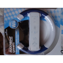 Volante Branco/azul Controle Wii Wii U Lacrado - Dvdsdf1