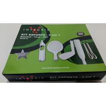 Wii Kit 3 Em 1 Integris Baseball Tenis Golf Kit Esportes