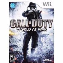 Manual Instruções Call Of Duty World At War Wii Original