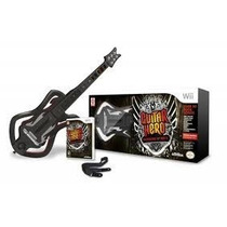 Guitarra + Jogo Guitar Hero Warriors Of Rock Nintendo Wii