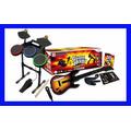 Guitar Hero Wii Wii U World Tour Bateria Guitarra Rock Band