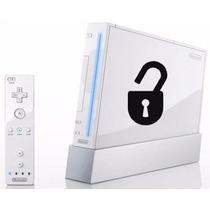 Nintendo Wi Console Desbloqueado Semi Novo 1 Controle Cabos.