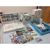 Nintendo Wii Destravado + Acessorios (15 In 1 + Volante)