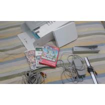 Nintendo Wii Destravado Com 4 Jogos Originais