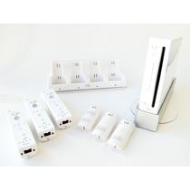 Nintendo Wii Com 3 Controles Com Bateria Recarregável