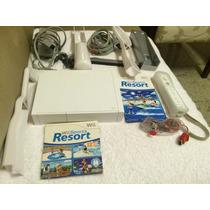 Nintendo Wii + Jogo Wii Sports Resort E Acessórios P/esporte