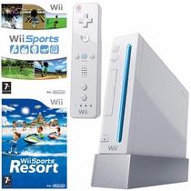 Nintendo Wii C/ 2 Jogos E 1 Controle + Hd Externo 250gb