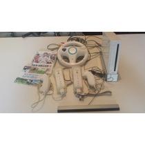 Wii Desbloqueado + Controles - Pouco Uso - Barato