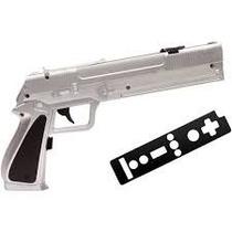 Pistola P Wii - Prata - Encaixe Controle Wii Remote Nunchuck
