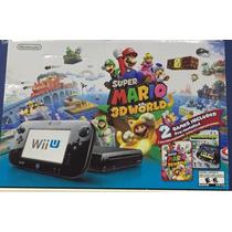 Nintendo Wiiu Deluxe 32gb Com 2 Jogos! Novo