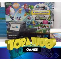 Nintendo Wii U Deluxe 32gb Garantia Loja Em Bh No Maleta!!!