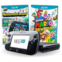 Nintendo Wii U 32gb Deluxe Completo + 2 Jogos Originais