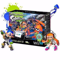 New Wii U Deluxe 32gb Splatoon +nintendo Land Pronta Entrega