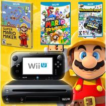 Wii U De 32gb C/ Mario Maker, Mario 3d World E Nintendoland