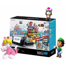 Nintendo Wii U Deluxe 32gb Completo Mário 3d World