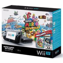 Nintendo Wii U 32gb Deluxe + 2 Jogos Super Mario 3d World