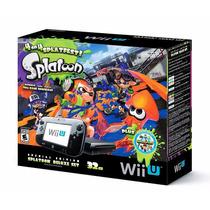 Nintendo Wii U 32gb Com 2 Jogos: Splatoon + Nintendo Land