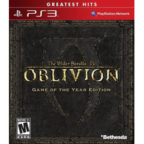 The Elder Scrolls Iv 4 Oblivion Game Of The Year Edition Ps3