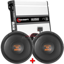 Kit 2 Alto Falantes Woofer Triton 700+módulo Taramps Hd-2500