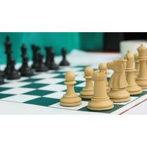Jogo De Xadrez Completo Peças Staunton/tabuleiro De Courvin