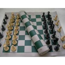 Jogo De Xadrez Conjunto Staunton Peças + Tabuleiro Courvin