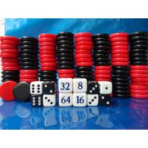 Peças 120 Pedras 12 Dados Em Poliéster Jogos De Gamão 3,6cm