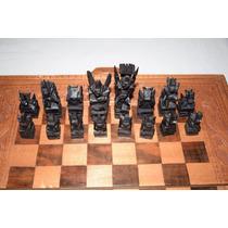 Jogo De Xadrez Em Madeira Handmade (rei Com 9,3 Cm) - Usado
