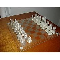 Jogo Xadrez De Vidro 32 Peças