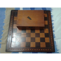 Xadrez Antigo De Madeira (artesanal)