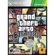 Jogo Gta Grand Theft Auto San Andreas Xbox 360 Novo Cd