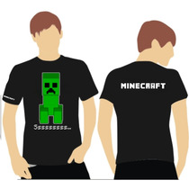 Camiseta Ou Baby Look Minecraft, Adulto Ou Infantil.