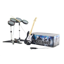 Guitarra E Bateria Para Xbox360 - Rock Band Special Value