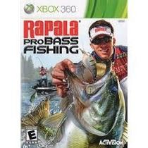 Rapala Pro Bass Fishing Xbox 360 Pesca Jogo Novo Lacrado