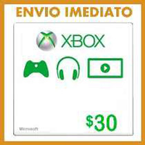 Xbox Live Gift Card $30 - Microsoft Points 30 Dolares Us